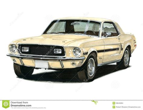 1968 12 Ford Mustang Gtcs Editorial Stock Image