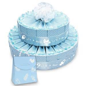 baby shower favors for a boy 2 tier baby shower favor cake kit it s a boy boxes