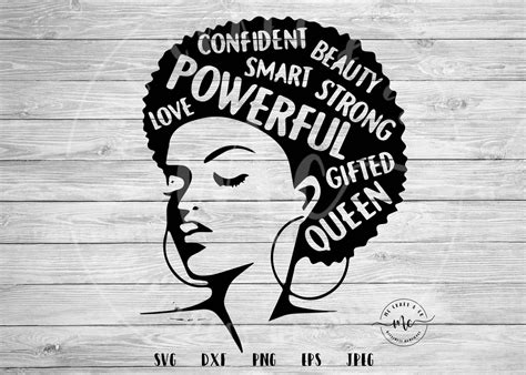 Black woman with afro silhouette. Black History Month black history svg afro svg Afro Word ...