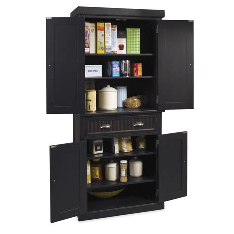 nantucket pantry black distressed finish homestyles
