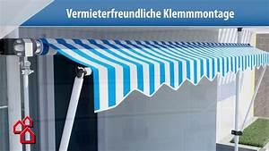 Balkonmarkisen Ohne Bohren : klemmmarkise bauhaus youtube ~ Watch28wear.com Haus und Dekorationen