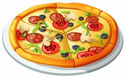 Clipart Meat Healthy Pizza Transparent Vector Borders