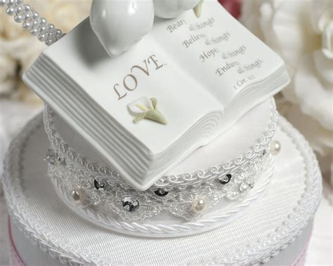 love verse bible cake topper  doves  calla lily