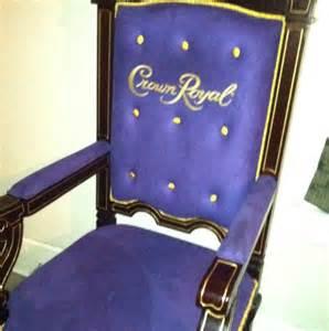 crown royal purple velvet and wood throne chair rare ebay