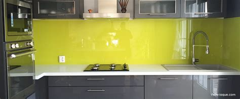 credences cuisine crédence en verre laqué pour votre cuisine verre laque com