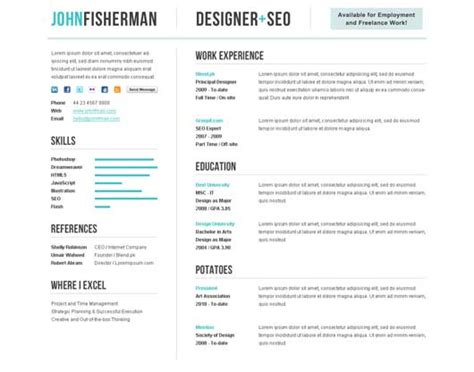 beautiful themes for cv or resume design