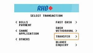 Checkout With Rhb Atm    Cdm    3rd Party Transfer