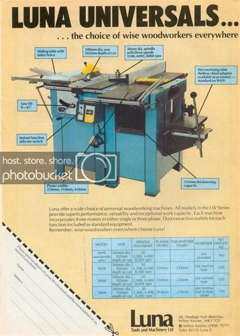 luna woodworking machinery uk  woodworking projects