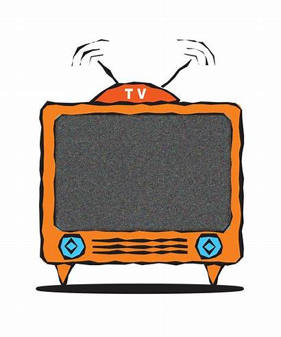 Clip Tv Clipart Television Watching Cartoon Cliparts