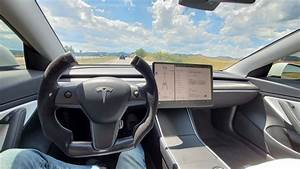 The New Tesla Model 3 Steering Wheel! - YouTube