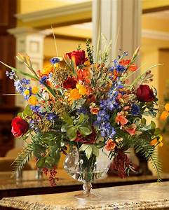 Distinctive Glorious Garden Silk Flower Centerpiece at Petals