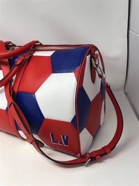 louis vuitton fifa world cup soccer keepall  bag  stdibs