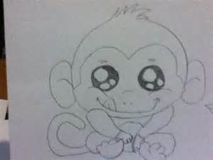 Cute Girl Monkey Drawings