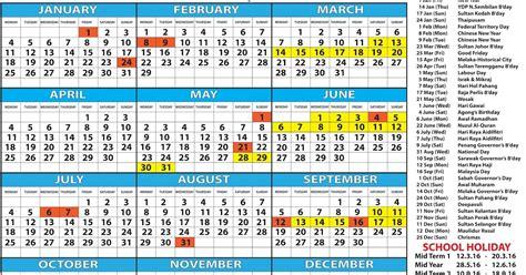 calendar kalendar malaysia