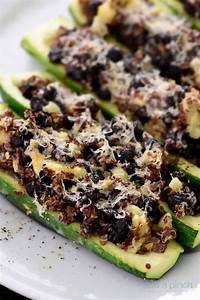 Black Bean Quinoa Stuffed Zucchini Recipe - Add a Pinch
