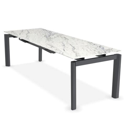 ceramic top dining table calligaris esteso extending metal dining table ceramic top
