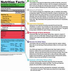 nutrition facts table template - making healthier food choices labels grams calories