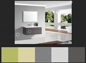 Association Couleur Gris : guide 2018 choix association des couleurs d une salle de bain ~ Melissatoandfro.com Idées de Décoration