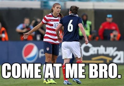 Funny Memes Soccer - i was at this game when this happened too funny kickin around pinterest alex morgan