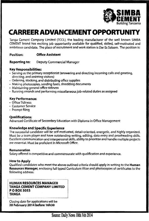 Office Assistant  Tayoa Employment Portal. Career Objective Examples For Resume. Resume Objectives Administrative Assistant Template. Resume To Apply Job Template. Paycheck Sign Out Sheet Template. Search Resumes On Linkedin. Writing Resume For Internship Template. What Does Organizational Skills Mean Template. Monthly Budget Spreadsheet Template