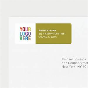 Company logo return address labels paper culture for Company return labels