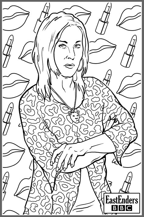 bbc  eastenders colouring