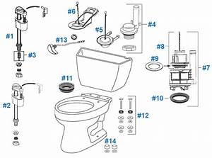 Toto Drake Toilet Replacement Parts