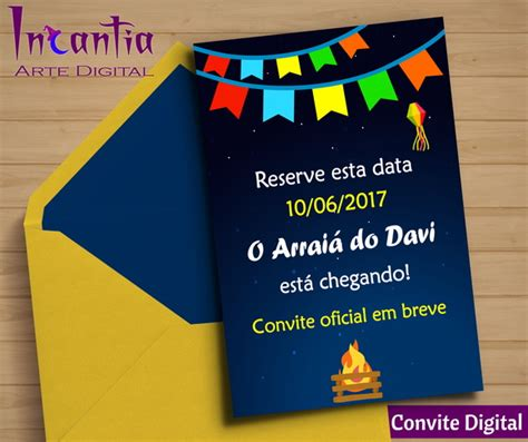 Save The Date Digital Festa Junina No Elo7