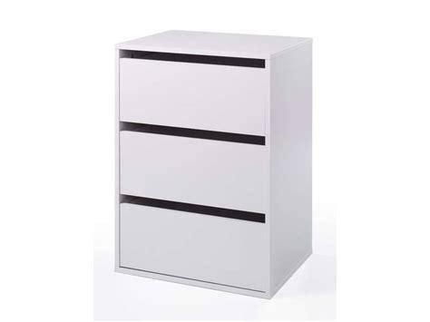 bloc tiroir bureau bloc 3 tiroirs verona coloris blanc vente de accessoires
