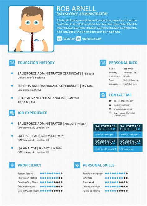 Salesforce Administrator Resume by The Salesforce Administrator Resume Salesforce Qa Qa