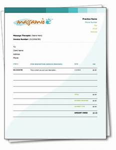 Sohnen moe associates inc invoice and receipt templates for Massage therapy invoice template
