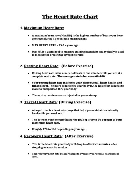 Simple Heart Rate Chart Free Download