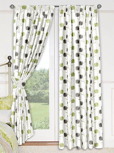 green curtains curtains and apples on