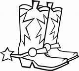 Cowboy Coloring Boot Pages Google Dessin Motifs Broderie Enregistree Depuis sketch template