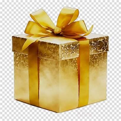 Gold Gift Present Clipart Ribbon Background Box