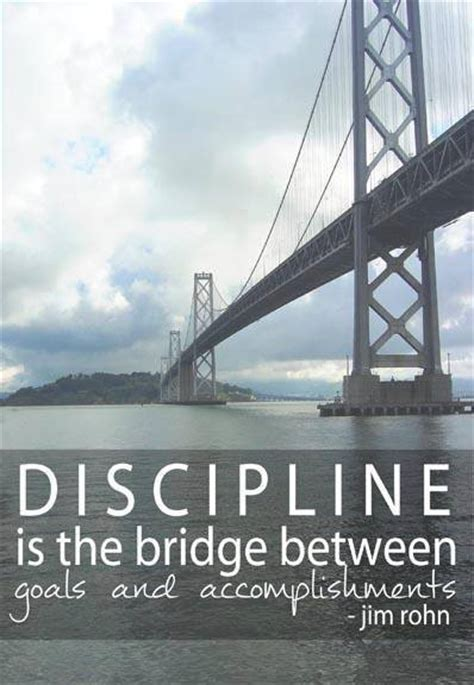 discipline   bridge  goals  accomplishments