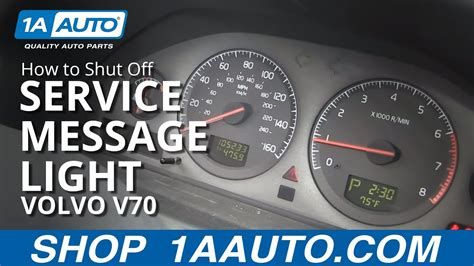 shut  service reminder message light   volvo
