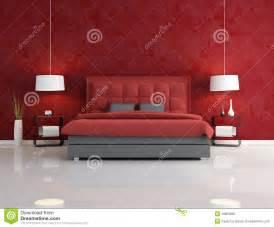 Camera da letto rossa di lusso fotografie stock libere diritti immagine