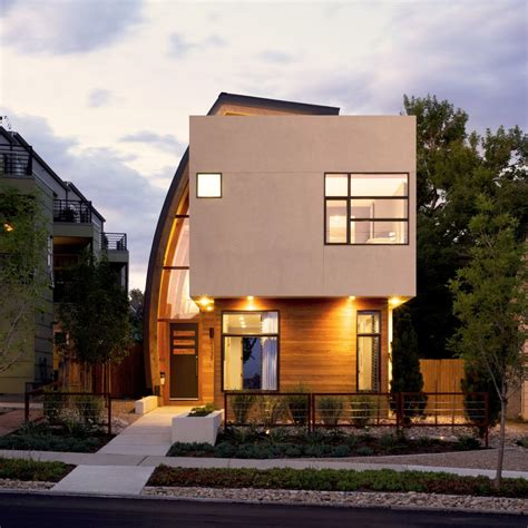 home design denver inspiring infill with sun catching curve metal