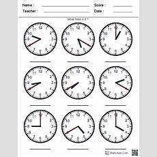 Generate Random Clock Worksheets For Prek, Kindergarten, 1st, 2nd, 3rd, 4th, And 5th Grades