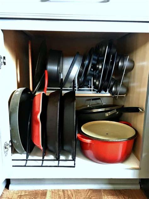 kitchen organizer organizers where baking pans organize needs pot every shelf organizing way organized lid use stuff