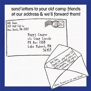 the letter With stamps to send a letter