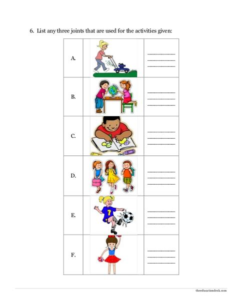 parts of the worksheet year 1 part images for