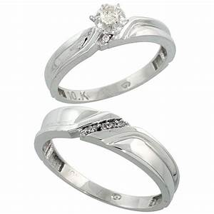 White gold wedding ring sets for him and her white gold for Wedding ring sets for him and her white gold