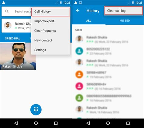 delete phone calls how to delete call log on android single all