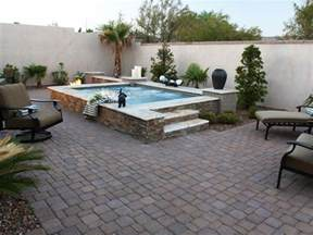 Stone Patio Design Hot Tub