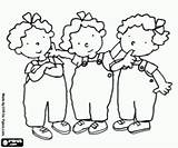 Nellie Annie Coloring Tessa Triplets sketch template