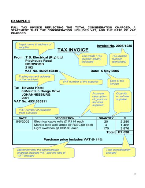 examples  valid tax invoicetemplates