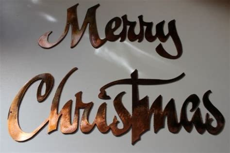merry christmas metal wall art decor