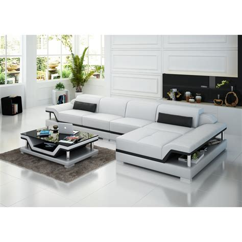 canapé d angle cuir center canapé d 39 angle en cuir pop design fr